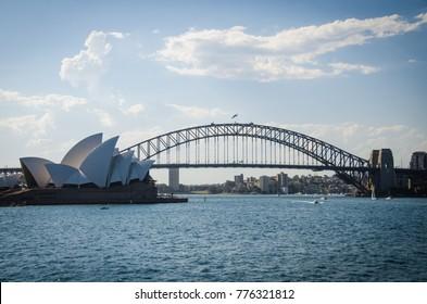 Sydney Opera House and Harbour Bridge NSW Australia December 16 2017