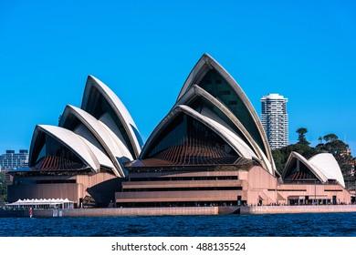 Sydney Opera House  Sep,24,2016.The Sydney Opera House,Sydney,Australia is famous art center.Over 10 millions tourists visit Sydney a year.