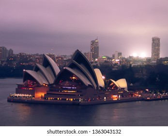 Sydney Opera House from street. Year 2005