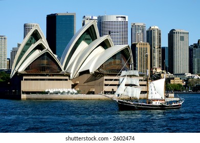 Sydney Opera House and Tall Ship, Sydney, Australia