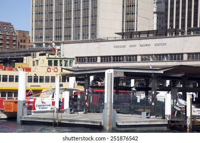 SYDNEY - SEPTEMBER 3: Sydney's famous Circular Quay as seen on September 3, 2014. Circular Quay is one of the best tourist locations in Australia.