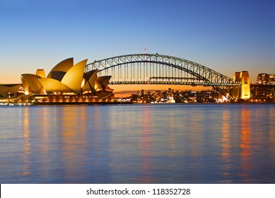 SYDNEY - SEPTEMBER 7: The Sydney Opera House, viewed from Circular Quay in Sydney, Australia on September 7, 2008. It was designed by Danish architect Jorn Utzon.