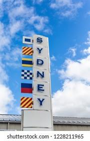 Sydney Sign on Cape Breton Island, Nova Scotia, Canada