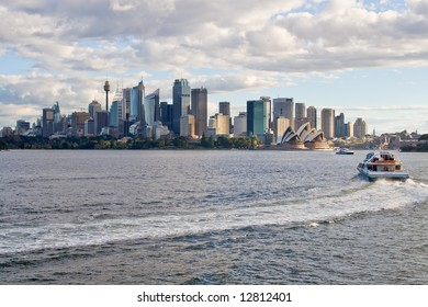 Sydney Skyline and Boat