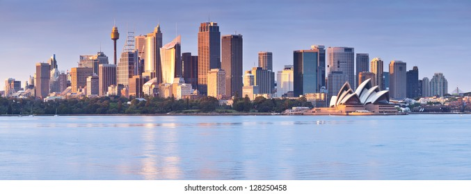 Sydney skyline at dawn