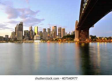 Sydney skyline during sunrise, Australia