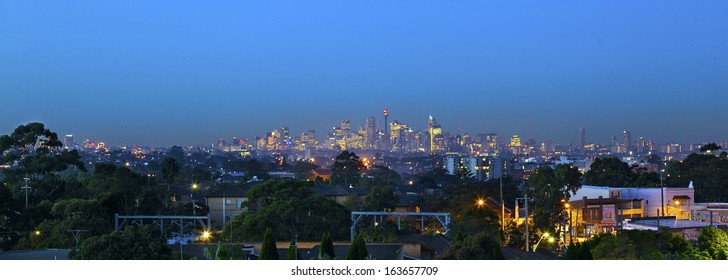 sydney skyline at night from the south side