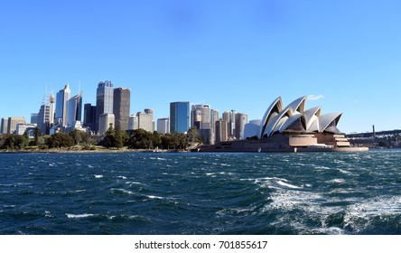 Sydney skyline and the Opera House.