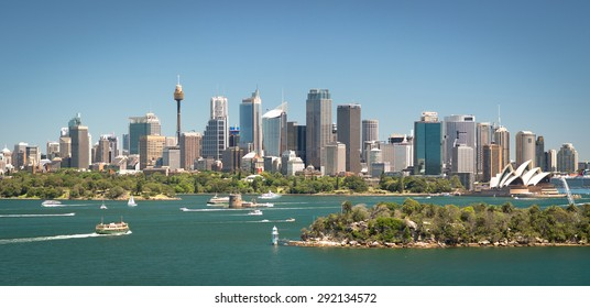Sydney skyline panoramic view