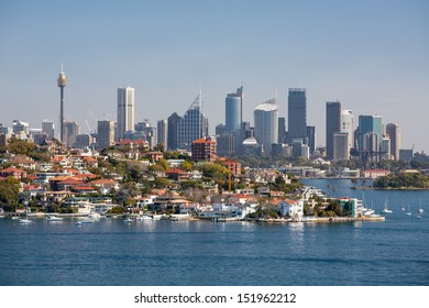 Sydney skyline from Watson's Bay in Sydney, Australia