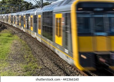 Sydney speeding Trains