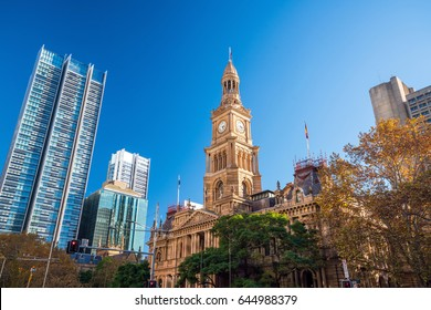 Sydney Town Hall in Australia, New South Wales. Built in 1889