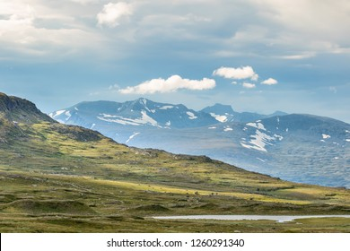 Sylarna mountain view in the swedish mountains