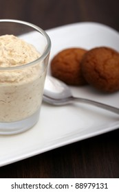 syllabub on a plate with cookies