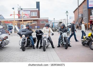 SYLT GERMANY - 12 April 2018 - Harley Davidson Motorcycle Conference at the village of Castellar del Vallés in SYLT