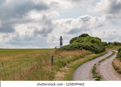 Sylt - View to Sylt Braderup with View to the Kampen Light-Tower, Schleswig-Holstein, Germany, Sylt, 10.06.2018
