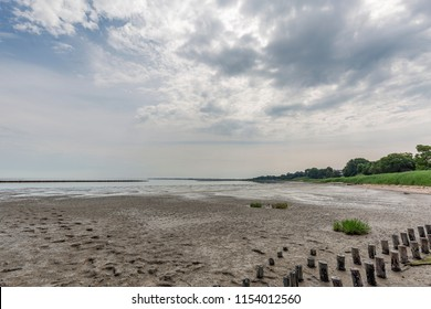 Sylt - View to Braderup Wadden Sea with low tide, Schleswig-Holstein, Germany, Sylt, 09.06.2018