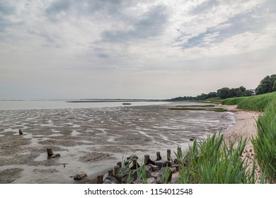 Sylt - View to Wadden Sea at Braderup with low tide, Schleswig-Holstein, Germany, Sylt, 09.06.2018
