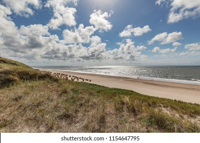 Sylt - View from Wenningstedt Dunes towards Wenningstedt Beach, Schleswig-Holstein, Germany, Sylt, 13.06.2018