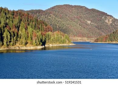Sylvensteinsee in autumn