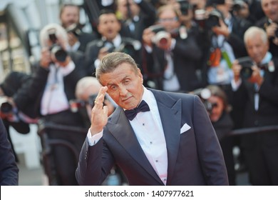"Sylvester Stallone  attends the closing ceremony screening of ""The Specials"" during the 72 Cannes Film Festival on May 25, 2019 in Cannes, France."