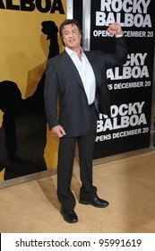 """SYLVESTER STALLONE at the world premiere of his new movie """"Rocky Balboa"""" at the Grauman's Chinese Theatre, Hollywood. December 13, 2006  Los Angeles, CA Picture: Paul Smith / Featureflash"""