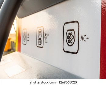 Symbol AC CCS Electric Vehicle charging on charging point