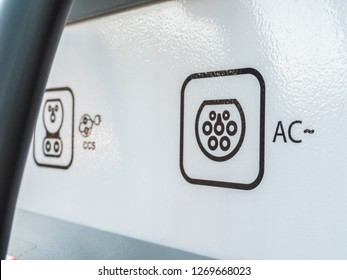 Symbol AC and CCS Electric Vehicle charging