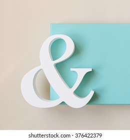 symbol & with blue box