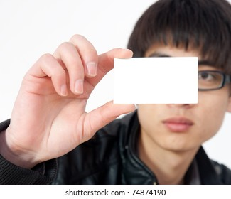 A symbol of Chinese men holding cards