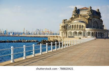 Symbol Constanta - abandoned casino on the sea shore, Romania