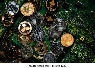 symbol of crypto currency coin virtual money technology block chain business financial ideas concept