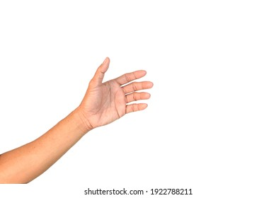 Symbol empty hand holding isolated on the white background, withe clipping paths.
