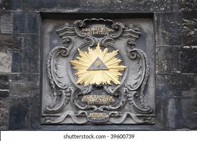 symbol eye in a pyramid