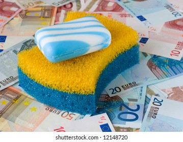 Symbol of financial fraud - money laundering