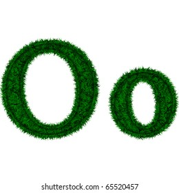 Symbol of green grass isolated on white background