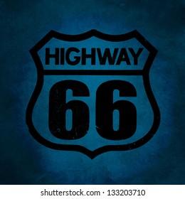 Symbol of Highway 66