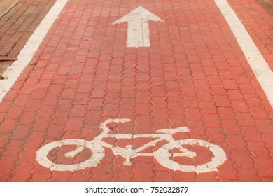 Symbol to indicate the road for bicycles