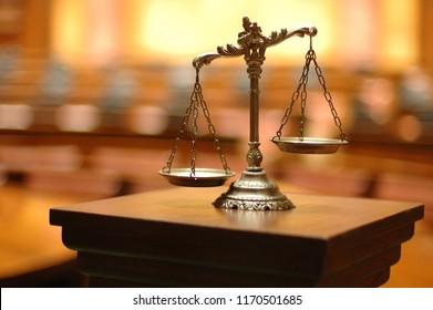Symbol für Recht und Gerechtigkeit, Recht und Gerechtigkeit Konzept.