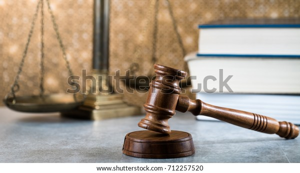 Symbol of law and justice, law and justice concept image