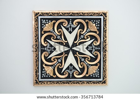 Symbol Maltese Knights Decorated On Square Stock Photo Edit Now