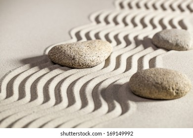 symbol of managing issues in business with zen mindset