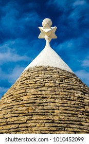 Symbol On The Trullo House Roof - Alberobello, Apulia Region, Italy, Europe