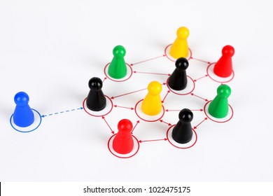 symbol picture for Teamwork with different characters