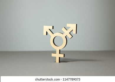 Symbol of transgender from tree on gray background