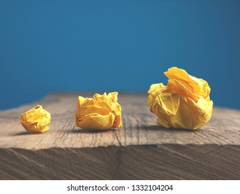 Symbolic business image with crumpled paper as great ideas concept