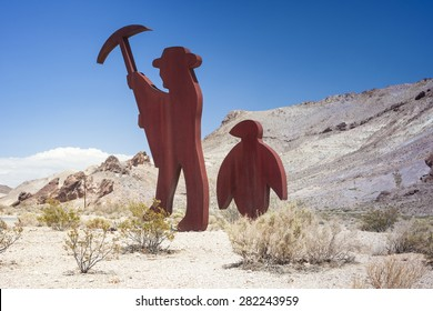 Symbolic Emblem of the Abandoned Miner's Ghost City Rhyolite in Nevada in the United States of America. Horizontal Image Orientation
