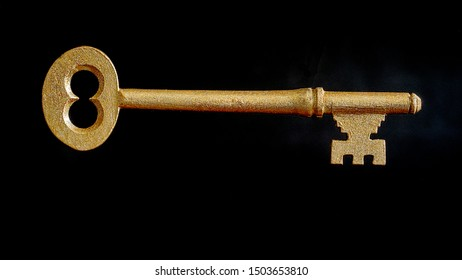 Symbolic Golden Key Representing Wealth and Success