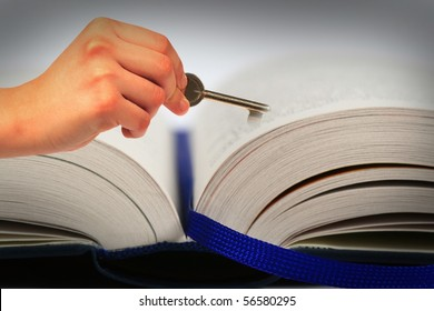 symbolic hand book unlocks the background soft