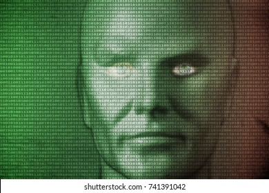 symbolic image: digitization, AI/ Artificial Intelligence, singularity, immortality, cyberpace.